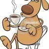 dog-coffeel-cartoon-illustration-funny-character-drinking-coffee-47317904